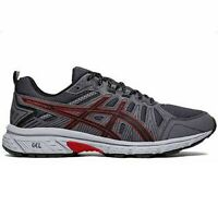 Men's Asics GEL-VENTURE 7 1011A560-003 Black/Red Lace-Up Trail Running Shoes