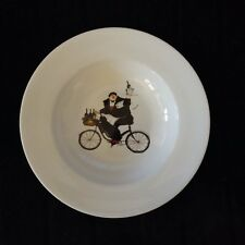 "ONEIDA 8 1/2"" BOWLS CHEFS TO GO Jennifer Garant 2004 Bicycles Stoneware A"