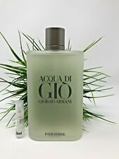 Giorgio Armani Acqua Di Gio Eau de Toilette Authentic SAMPLE Spray Size 3ml