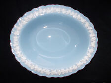 Wedgwood CREAM COLOUR ON LAVENDER Open Oval Vegetable Dish.