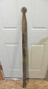 1 XL Wrought iron hinge strap barn door decor Vintage Antique hand wrought 49.5""