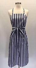 New Thomas Mason for J.Crew striped apron dress Navy White Sz 12 G5274 $178