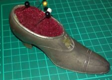 Antique, Vintage, Retro, Metal (Pewter?) Shoe Pin Cushion.