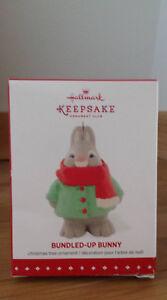 Hallmark Bundled-Up Bunny 2015 Christmas Ornament