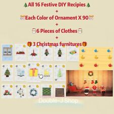Animal Crossing-16 Christmas Festive DIY➕Each Color Of Ornaments X 90➕6Clothes➕3