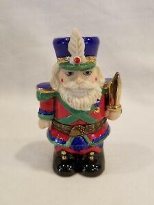 "1996 Classic Collectibles Santa Nutcracker Treasure Box. 4.5"" Soldier Trinket"