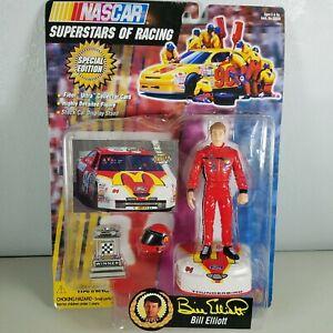 Bill Elliott 1997 Nascar Superstars of Racing Action Figure & Collector Card New