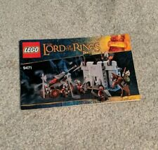 LEGO 9471 Lord of the Rings Uruk-hai Army - Instruction MANUAL ONLY!