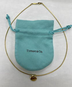 Tiffany & Co. Solid 18k /750 Yellow Gold Round Snake Chain Necklace & Pendant