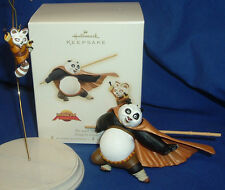 Hallmark Ornament Set of 2 DreamWorks Kung Fu Panda 2008 Po and Master Shifu NIB