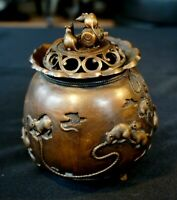 Beautiful Antique Asian Bronze Incense Burner