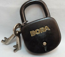 Vintage BORA Padlock Made in Germany two Key