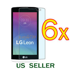 6x Clear LCD Screen Protector Guard Cover Film For LG Leon 4G LTE C40 / H340N
