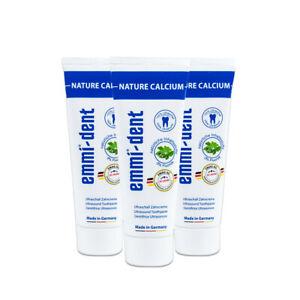 EMAG Emmi-dent Ultraschall-Zahncreme Nature Calcium 3 Tuben á 75 ml