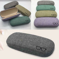 Cute Portable Hard Linen Eye Glasses Protector Eyewear Case Sunglasses Box