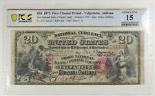 New listing 1875 $20 The Fnb Bank At Porter County At Valparaiso, In Ch# 2704. Pcgs F15