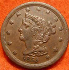 GORGEOUS RARE 1855 HALF CENT COIN AU-UNC VERY HIGH GRADE