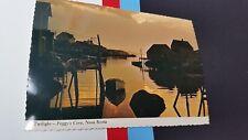 Twilight Peggy`s Cove Nova Scotia  Canada Postcard post card