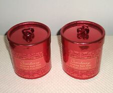 Lot of 2 Pounds Cranberry Bath Salts in Decorative Containers