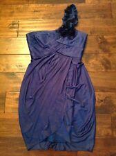 BCBG Max Azria Navy Blue One Shoulder Dress, Size M, NEW!