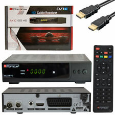 Opticum HDTV cable receiver c100 negro DVB-C USB SCART HDMI digital