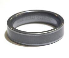 tungsten carbide triton black mens 6mm wedding band ring 12.2g gents comfort fit