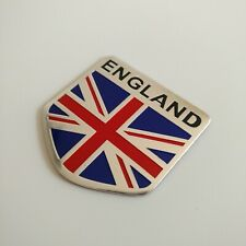 1X Decal Metal Emblem Badge Car Auto Fender Side Skirt Sticker England Flag
