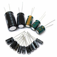 120Pcs 15 value 50V 1uF-2200uF Electrolytic Capacitor Assortment Kit Set New