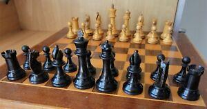 Vintage Wooden Staunton Pattern Chess Set