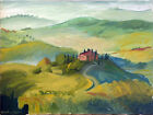 """Abstract Italy Italian Landscape Oil Painting, 18""""x24"""", Original Signed"""