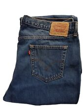 Levi 751 blue denim Jeans Pants Mens W 41 Leg 31 Straignt Leg Good B16