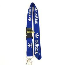 Adidas Lanyard Detachable Keychain iPod Camera Strap Badge ID AdiBlue