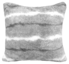 """Luxury Grey White Faux Fur Suede Supersoft Cushion Cover 17"""" - 43cm"""