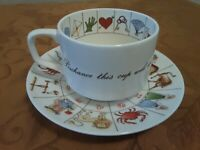 Royal Kendall Staffordshire Fine Bone China Astrology Cup And Saucer