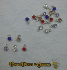 ❤ Dainty Rhinestone Drop Charms (for necklace/bracelet) ❤ Pack of 20 ❤5 Colours❤