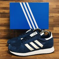 *NEW* Adidas Originals Forest Grove (Men's Size 7) Athletic Suede Sneaker Blue