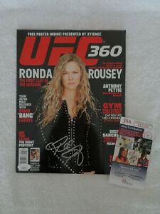 Ronda Rousey SIGNED UFC magazine No Label  JSA COA