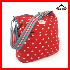 Cath Kidston Large Fabric Cotton Red Polka Dot Cross Body Messenger Tote Bag B9