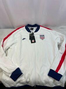 Nike Team USA 2020 Fleece Track Jacket Soccer White CI8452-100 Sz Medium New