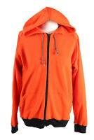 Vintage Budo Sport Womens Tracksuit Top Full Zip Hooded Size 7 Orange - SW2430