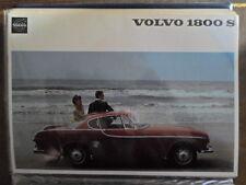VOLVO 1800S SPORTS CAR orig 1965 1966 USA Mkt Sales Brochure - P 1800 S