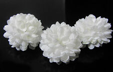 White color 30pcs Chrysanthemum Ball Silk Flowers Home Decor Dia 1.96''