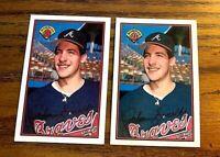 1989 Bowman #266 John Smoltz RC - Braves HOF (2)