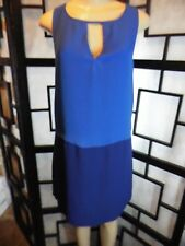 Women's TINLEY ROAD Sleeveless Key Hole Top at Neck Blue Dress Size S -New w/Tag