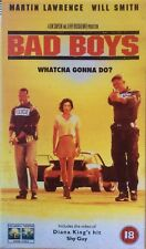Bad Boys.  VHS.  Will Smith, Martin Lawrence, Téa Leoni.  Cert 18.  114 MInutes