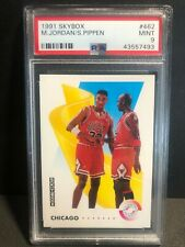 MICHAEL JORDAN SCOTTIE PIPPEN 1991 Skybox TEAMWORK Card #462 Graded PSA 9 MINT