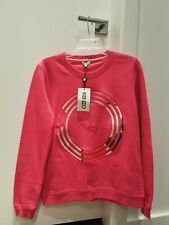 NWT Kenzo Paris logo Textured Circle Sweatshirt Pink Sz Medium