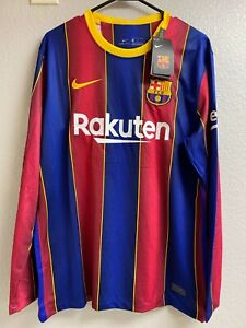 New Lionel Messi jersey FC Barcelona home 2020-21 Long Sleeve Mens Small