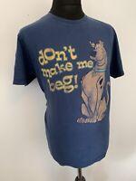 St Bernard Dunnes Scooby Doo Don't Make Me Beg Blue T Shirt Tee L Retro VG