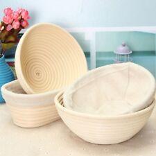 Round Oval Banneton Brotform Dougn Rattan Bread Proofing Tray Storage Basket
